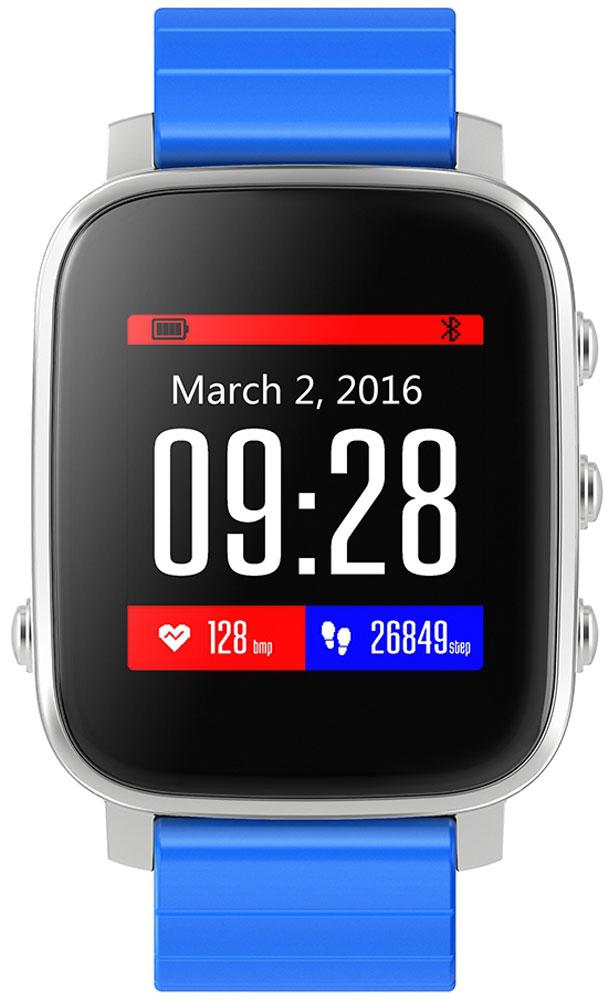 SMA Time смарт-часы, Silver Light Blue - Умные часы