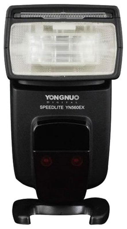 YongNuo Speedlite YN560EX вспышка для Canon, Nikon, Pentax, Olympus, SonyYongNuo YN-560EXМощная вспышка YongNuo Speedlite YN560EX отлично подойдет тем, кто собирается использовать несколько приборов для построения систем подсветки.Если система подсветки строится для Canon и Nikon, то данная модель в подчиненном положении (ведомая вспышка) сможет работать в полностью автоматическом TTL-режиме (Sc/Sn – Slave Canon/Slave Nikon).Организовать удобную систему подсветки для остальных брендов тоже возможно, но она будет с неавтоматическим, ручным управлением мощности. В этом случае вспышка может использоваться как в накамерном, так и в подчиненном положении.