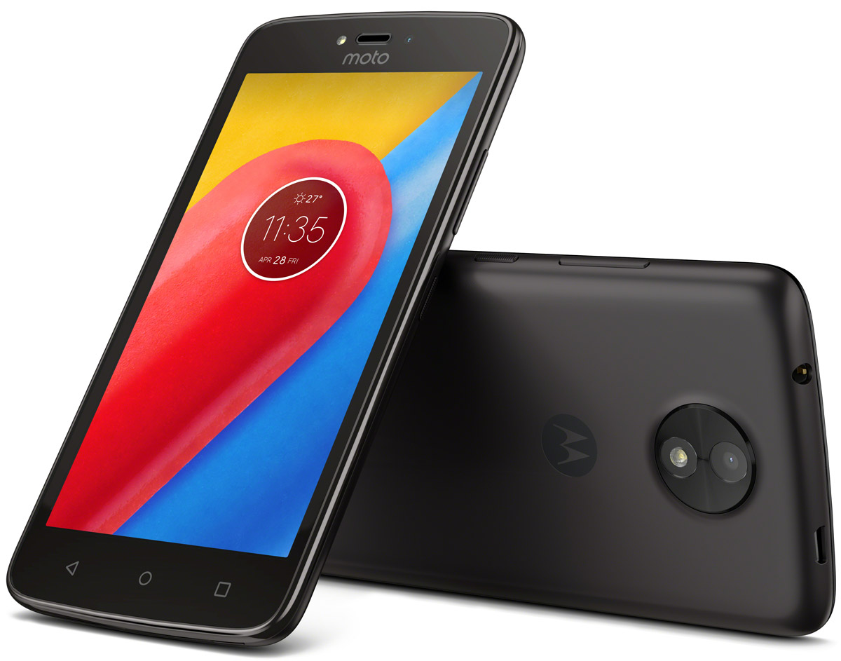 Motorola Moto C, Starry Black (XT1754)PA6L0083RUСмартфон Motorola MOTO C XT1754 5 FWVGA/ 854х480/ MediaTek MT6737M 1,1Ghz/ 1GB/ 16GB/ 4G LTE/ WiFi/ BT/ SD/ 5MP/ Android 7.0/ Starry Black
