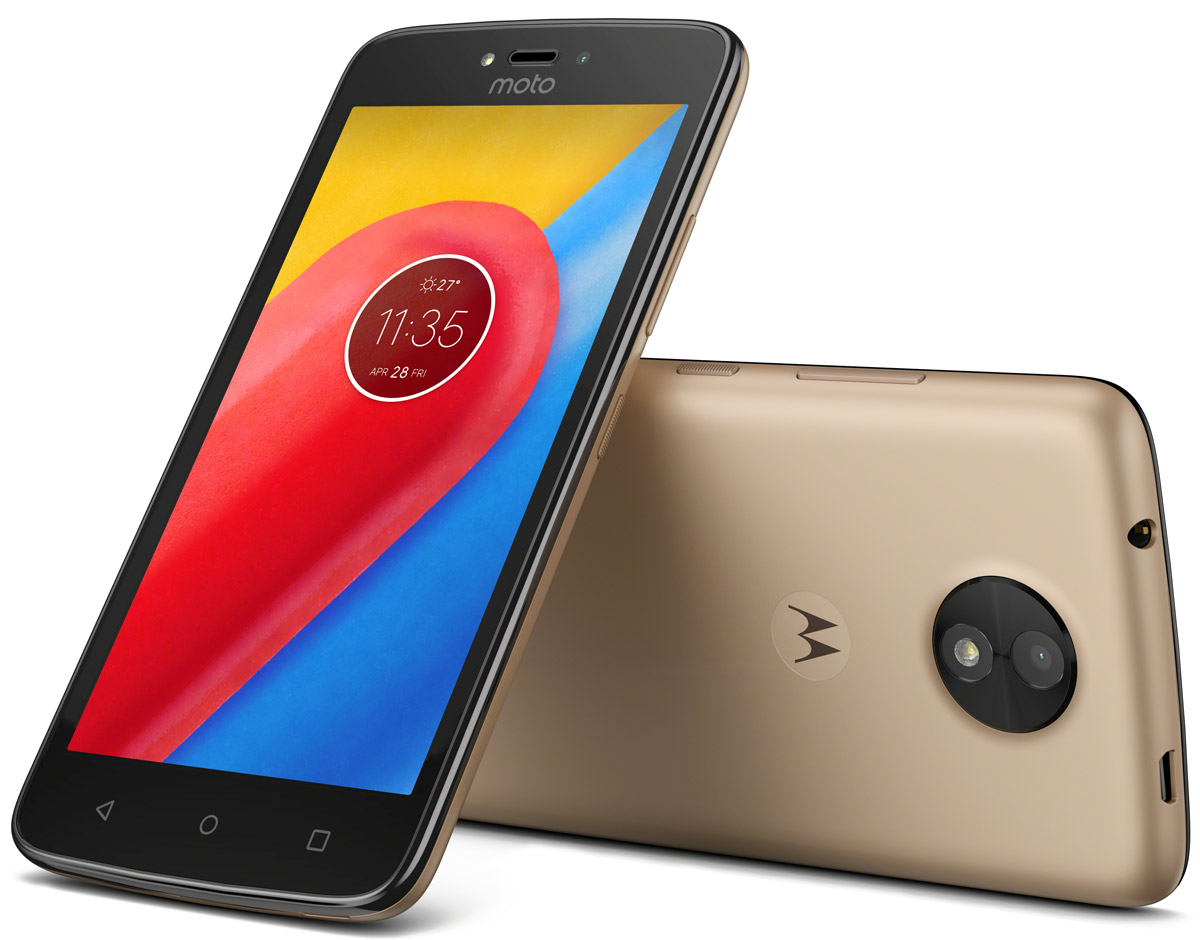 Motorola Moto C, Fine Gold (XT1754)PA6L0051RUСмартфон Motorola MOTO C XT1754 5 FWVGA/ 854х480/ MediaTek MT6737M 1,1Ghz/ 1GB/ 16GB/ 4G LTE/ WiFi/ BT/ SD/ 5MP/ Android 7.0/ Fine Gold