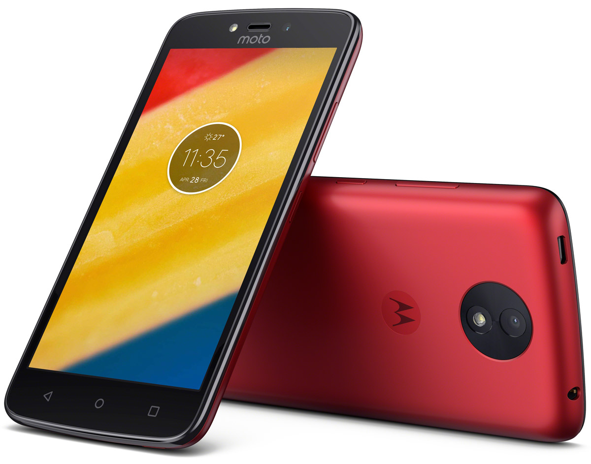 Motorola Moto C Plus, Metallic Cherry (XT1723)PA800115RUСмартфон Motorola MOTO C Plus XT1723 5 HD IPS/ 1280х720/ MediaTek MT6737 1,3Ghz/ 1GB/ 16GB/ 4G LTE/ WiFi/ BT/ SD/ 8MP/ Android 7.0/ Metallic Cherry