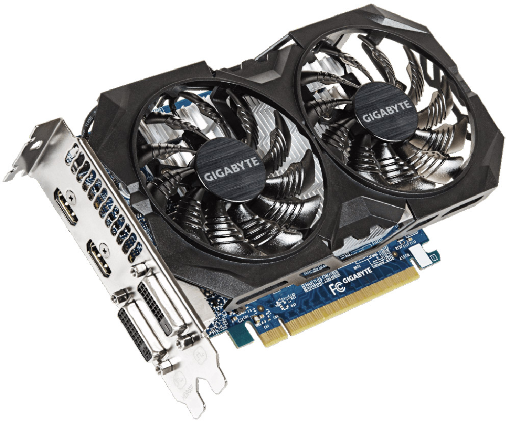 Gigabyte GeForce GTX 750 Ti Windforce OC 4GB видеокартаGV-N75TWF2OC-4GIВидеокарта Gigabyte PCI-E GV-N75TWF2OC-4GI NV GTX750Ti 4096Mb 128b GDDR5 1020/5400 DVIx1/HDMIx2/HDCP