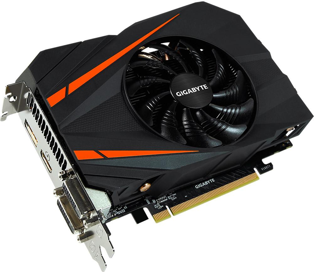 Gigabyte GeForce GTX 1060 Mini ITX OC 3G 3GB видеокартаGV-N1060IXOC-3GDВидеокарта Gigabyte PCI-E GV-N1060IXOC-3GD NV GTX1060 3072Mb 192b GDDR5 1556/8008 DVIx2/HDMIx1/DPx1/