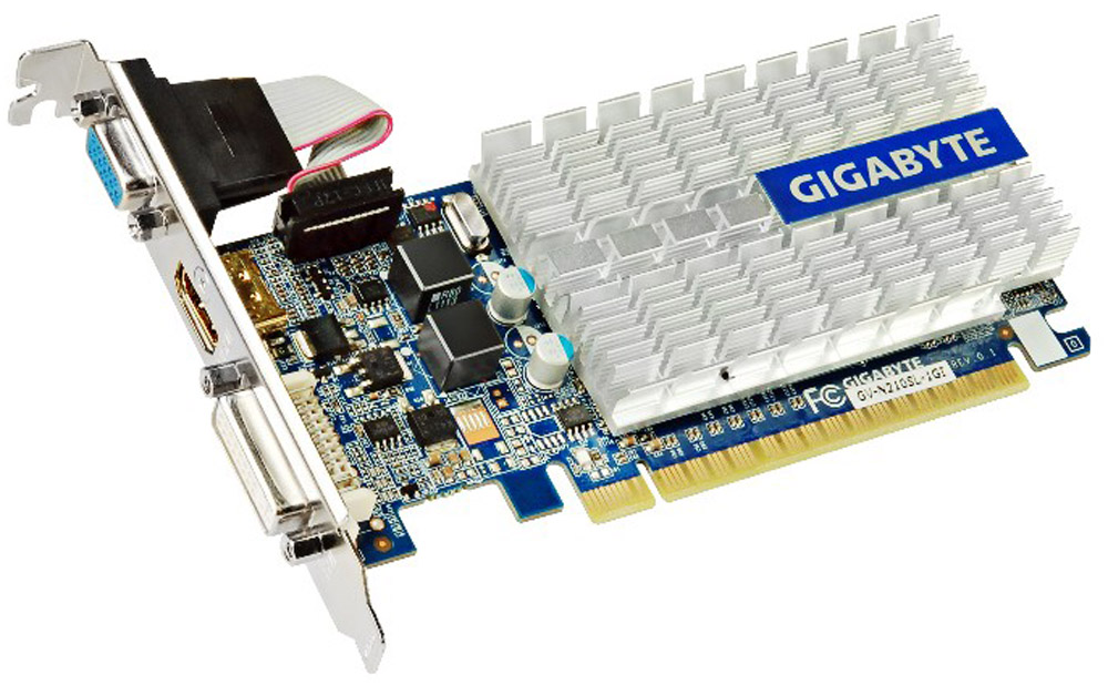 Gigabyte GeForce GF 210 1GB видеокарта (GV-N210SL-1GI)