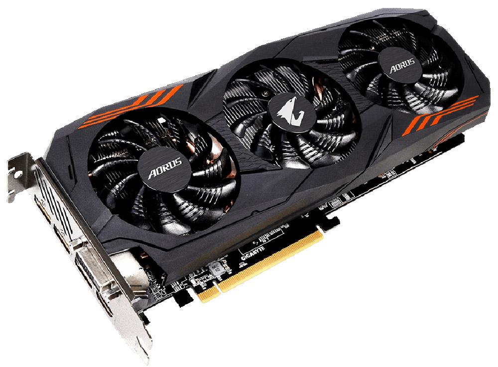 Gigabyte AORUS GeForce GTX 1060 6GB видеокартаGV-N1060AORUS-6GDВидеокарта Gigabyte PCI-E GV-N1060AORUS-6GD NV GTX1060 6144Mb 192b GDDR5 1607/9026 DVIx1/HDMIx1/DPx3