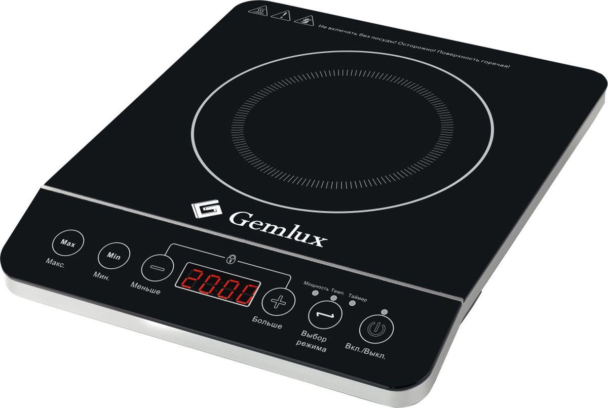 Gemlux GL-IP20A плита настольная индукционнаяGL-IP20AПлита Gemlux GL-IP20Aэлектрическая, настольная, индукционная, 1 зона нагрева, сенсорное управление, 10 уровней мощности (200-2000 Вт с шагом 200 Вт), рабочая температура 60-240оС, электронный таймер 0-180 мин, пластмасса