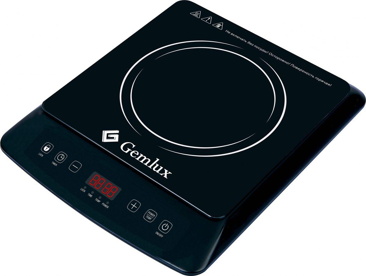 Gemlux GL-IP22E плита настольная индукционнаяGL-IP22EПлита Gemlux GL-IP22Eэлектрическая, настольная, индукционная, 1 зона нагрева 250х250 мм, кнопочное управление, 8 уровней мощности (230-2000 Вт), рабочая температура 60-240оС, электронный таймер 0-2 ч 59 мин, пластмасса