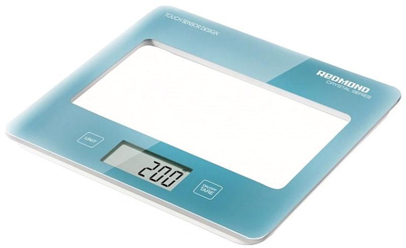 Redmond RS-724, Blue весы кухонныеRS-724 BlueОщутите передовые технологии точного взвешивания вместе с кухонными весами REDMOND RS-724 модельной линейки CRYSTAL SERIES. Прибор измеряет вес продукта до 5 кг с точностью до 1 г. Значения измерений выводятся на ЖК-дисплее, снабженном индикацией низкого уровня заряда элемента питания. Вы непременно оцените удобство сенсорной панели электронного управления и элегантный дизайн этих весов.