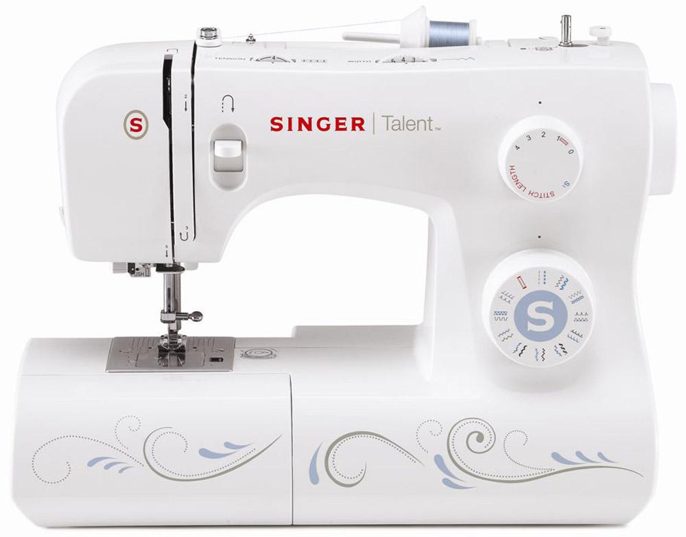 Singer Talent 3323 швейная машинаTALENT 3323Швейная машина Singer TALENT 3323 Электромеханическая 23 операции, петля-автомат, горизонтальный челнок
