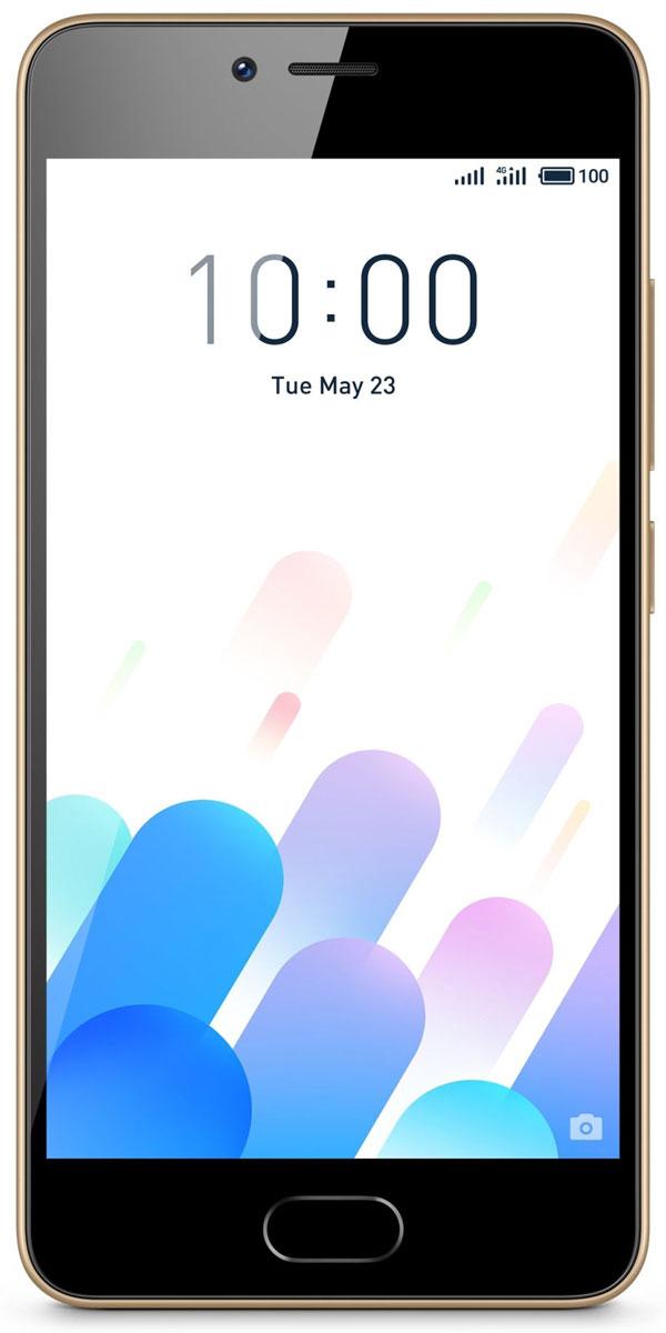 Meizu M5c 16GB, GoldM710H-16-GOLDОтличающийся классическим элегантным стилем Meizu M5c - наследник смартфонов М-серии. Слот для двух сим-карт плотно прилегает к корпусу, не нарушая идеальную симметрию.Корпус смартфона изготовлен из высококачественного поликарбоната. Покрытие задней панели наносится методом напыления при температуре 85°C, что гарантирует ровную и прочную поверхность. Плавные изгибы созданы с помощью высокоточной инструментальной обработки.Смартфон оснащается четырехъядерным 64-битным процессором с частотой 1,3 ГГц, 2 ГБ оперативной и 16 ГБ встроенной флеш-памяти, которая позволит навсегда забыть о проблемах с нехваткой места. Новейшая технология ускорения Flyme 6, One Mind AI увеличивает мощность и интеллектуально распределяет память, обеспечивая непревзойденную производительность.Несмотря на вес в 135 грамм и корпус толщиной всего 8,3 мм, в смартфоне поместился мощный аккумулятор емкостью 3000 мАч. Кроме того, система Flyme предлагает решения для оптимизации работы аккумулятора при разных нагрузках. Благодаря этому смартфон с легкостью справится с любой, даже самой энергозатратной задачей.8-мегапиксельный 4-элементный объектив и отличная апертура f/2.0 дополнены двухтоновой вспышкой, что позволяет делать качественные фотографии высокой четкости даже при плохом освещении. С 18 стильными фильтрами фотосъемка стала еще более творческим и увлекательным занятием как для искушенных ценителей, так и для тех, кто просто хочет сделать фото на память.5-дюймовый HD экран, выполненный по технологии полного ламинирования, передает яркую и четкую картинку и устраняет блики. Умная защита глаз: яркость экрана меняется автоматически в зависимости от освещения. Усовершенствованная система управления цветом предлагает широкий выбор тонов, от теплого до холодного.Meizu M5c работает со всеми популярными стандартами 2G/3G/4G и позволяет без проблем переключаться между SIM-картами в один клик. Точная GPS-система в сочетании с картами от сторонних поставщиков поможет эффек