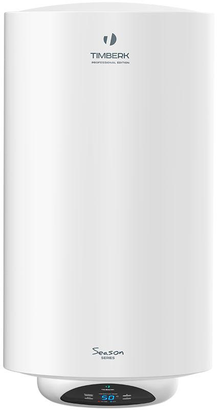 Timberk SWH RE15 50 V водонагреватель накопительныйSWH RE15 50 VВодонагреватель Timberk SWH RE15 50 V имеет сухой нагревательный элемент мощностью 1500 Вт и увеличенную длину магниевого анода, защищающего внутренний бак от коррозии. Корпус из высококачественной стали покрыт слоем белоснежной эмали.Технология SMART EN совершенствует состав эмалирования внутреннего резервуара, добавляя в нее революционное соединение ионов серебра (Ag+) в сочетании с ионами меди (Cu++). Такой слой эмали внутри бака обладает не только очищающими, но и антибактериальными свойствами. Сочетание двух дезинфектантов дает уникальный эффект, делая воду в баке чище и полезнее для здоровья человека.Суперплотный слой термоизоляции, который помогает воде внутри бака дольше оставаться горячей. Термоизоляционный слой выполнен из экологически чистых материалов.Система защиты 3D Logic: DROP Defense - защита от протечки и избыточного давления внутри бака.SHOCK Defense - защита от утечки электрического тока (УЗО). HOT Defense - двухуровневая защита от перегрева.Русифицированная электронная панель управленияУвеличенный электронный дисплей с индикацией температуры воды в бакеВключение режима Eco одной кнопкойРемонтопригодная конструкция нижней крышки водонагревателяИндикация подключения к электросети, а также режима нагреваНоминальный ток: 6,8 АРабочее давление: 0,75 МПаКласс влагозащиты: IPX4Время нагрева при 30°С: 70 мин