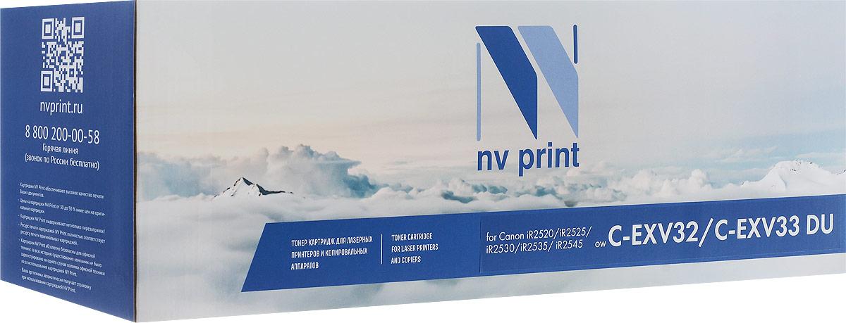 NV Print NV-CEXV32/CEXV33DU фотобарабан для Canon iR2520/iR2525/ iR2530/iR2535/ iR2545NV-CEXV32/CEXV33DUФотобарабан NV Print NV-CEXV32/CEXV33DU производится по оригинальной технологии из совершенно новых комплектующих. Все картриджи проходят тестовую проверку на предмет совместимости и имеют сертификаты качества.Лазерные принтеры, копировальные аппараты и МФУ являются более выгодными в печати, чем струйные устройства, так как лазерных картриджей хватает на значительно большее количество отпечатков, чем обычных.