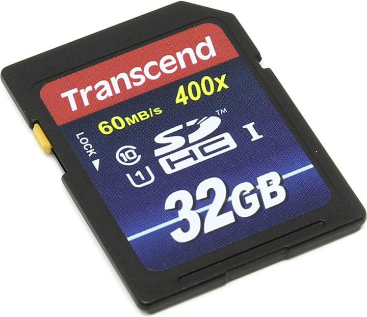 Transcend SDHC Class 10 UHS-I 400x 32GB карта памяти (TS32GSDU1)TS32GSDU1Карта памяти Transcend Class 10 SDHC Ultra High Speed поддерживает как впечатляющую спецификацию Class 10, так и USH-I, которая обеспечивает значительный прирост быстродействия. Всё это позволит полностью раскрыть потенциал вашей цифровой камеры. При работе вместе с UHS-I совместимыми устройствами карта памяти передаёт данные с молниеносной скоростью, что идеально подходит для высокоскоростной последовательной съёмки и плавной записи Full HD видео. Встроенная технология ECC используется для обнаружения и исправления ошибок при передаче данных, а эксклюзивная программа RecoveRx специально предназначена для восстановления удаленных и утраченных данных с портативных носителей.