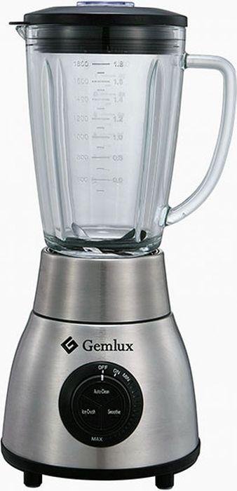 Gemlux GL-BL1200G блендерGL-BL1200GБлендер Gemlux GL-BL1200Gнастольный, плавная регулировка скорости (17000-20000 об/мин) + 3 режима работы, 1 стеклянный стакан емкостью 1,8 л с крышкой и мерным колпачком, материал корпуса - нержавеющая сталь