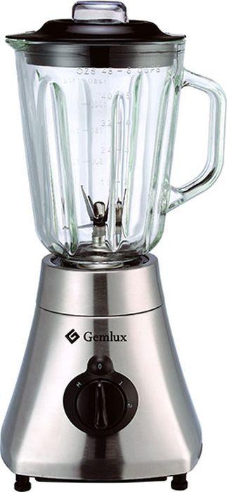 Gemlux GL-BL500G блендерGL-BL500GБлендер Gemlux GL-BL500Gнастольный, 2 скорости (22000/33000 об/мин) + режим пульсации, 1 стеклянный стакан емкостью 1,5 л с крышкой и мерным колпачком, материал корпуса - нержавеющая сталь