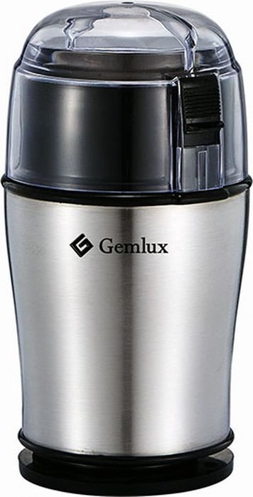Gemlux GL-CG100 кофемолкаGL-CG100Кофемолка Gemlux GL-CG100полуавтоматическая, разовая загрузка до 50 г, скорость вращения 20500 об/мин, материал корпуса - нержавеющая сталь