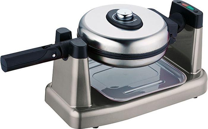 Gemlux GL-WM-101 вафельницаGL-WM-101Вафельница Gemlux GL-WM-101электрическая, поворотная, для венских и бельгийских вафель в форме сегментов (1/4 круга), 2 пресс-формы диаметром 170 мм из алюминия с антипригарным покрытием, регулируемый термостат, нержавеющая сталь