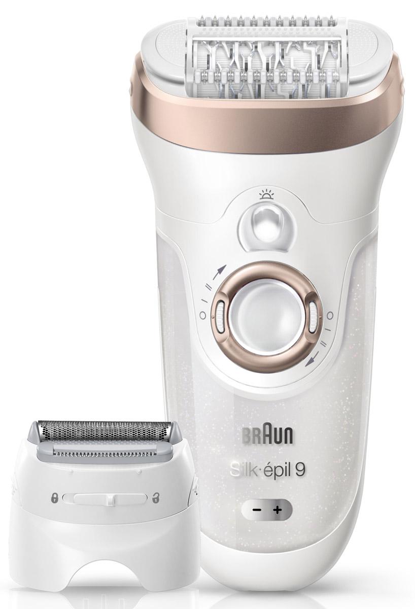 Эпилятор Braun Silk-epil 9 9-561 Wet & Dry с 6 насадками81476713_бежевыйЭпилятор Braun Silk-epil 9 - наш самый быстрый и точный эпилятор*, делающий кожу гладкой, как после салона, на срок до 4-х недель. В набор также входят 6 дополнительных насадок, позволяющих проводить полный набор процедур по удалению волос в домашних условиях.Преимущества: - Эпилятор удаляет больше волосков за одно движение*- Процедура эпиляции позволяет удалить в 4 раза более короткие волоски, чем воск- Благодаря технологии Wet & Dry эпиляция становится практически безболезненной при регулярном проведении процедуры- В набор входят 6 насадок, включая бритвенную головку и насадку-триммер*по сравнению с другими эпиляторами Braun