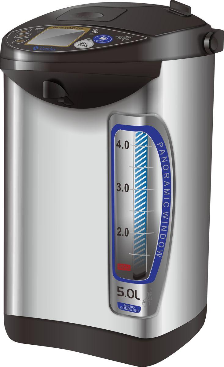 Gemlux GL-PCM-50W кипятильникGL-PCM-50WКипятильник Gemlux GL-PCM-50Wнастольный, автономный (наливной), объем 5 л, 3 способа розлива (ручной насос, электронасос, нажатие чашкой на рычаг), функция подогрева и повторного кипячения, нержавеющая сталь/пластмасса