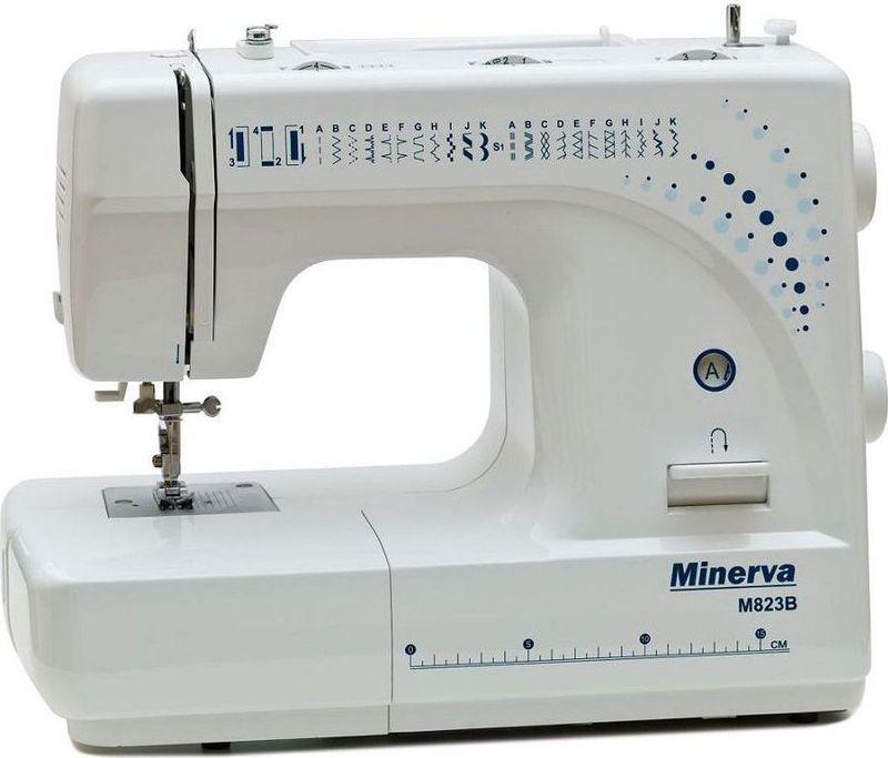 Minerva M823B швейная машинаM-M823BMinerva M823B – новая модель, разработанная с учетом пожеланий клиентов. Машина выполняет 23 строчки на все случаи жизни.Помимо рабочих строчек машина имеет эластичные строчки для трикотажных тканей, множество декоративных строчек и фестонную вышивку, оверлочные строчки, потайную подшивку низа. Данная модель проста в управлении, но в то же время, имеется довольно много различных регулировок, позволяющих выполнить шов максимально качественно.Minerva M823B оснащена такими функциями как плавная регулировка длины стежка и/или ширины строчки, автоматическая заправка нити, замена лапки в одно нажатие, подсветка рабочей поверхности,имеется боковой нож для быстрой и удобной обрезки нити.С таким количеством строчек и регулировок, эта швейная машинка подойдет для всех, кто ищет простую и надежную швейную машинку.Характеристики:Модель MINERVA M823BКласс: ЭлектромеханическаяПодходит для начинающихПетля - ПолуавтоматЧелнок - ВертикальныйНитеобрезчик - ЕстьСкорость шитья: 800 об/мин.Длина стежка: 0-4 ммШирина стежка: 0-5 ммДвухступенчатый подъем лапки – 6 ммМощность – 105 Вт.Возможности : Выполняет 23 вида строчек:- рабочие- эластичные строчки для трикотажных тканей- декоративная и фестонная вышивки- оверлочные строчки- потайная подшивка низаПлавная регулировка длины стежка от 0 до 4 мм.Плавная регулировка ширины строчек от 0 до 5 мм.Работает с различными видами тканейАвтоматическое переключение на холостой ход при намотке на шпулькуБыстрая замена лапокРеверсУдобный выбор строчек и операцийРабота двойной иглойРукавная консольБоковой ножПодсветка рабочей поверхности (лампа накаливания 15 Вт).Работа двойной иглойКомплектацияНаправляющая для выстегиванияНабор иглИнструменты и шпулькиМягкий чехолЛапки Универсальная лапкаЛапка для автоматического выметывания петлиЛапка для вшивания молнииЛапка для пришивания пуговицДисплей - НетКорпус - Пластик3 года гарантии.