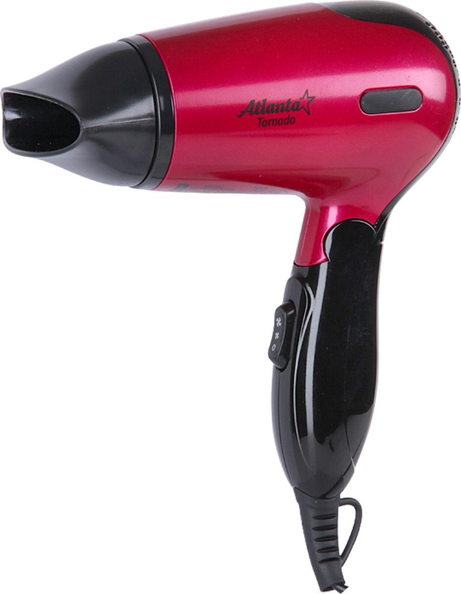 Atlanta ATH-882, Pink фенATH-882 pinkСкладывающаяся ручка57 °С система здоровой сушкиЗащита от перегреваДва уровня интенсивности сушкиСпециальное противоскользящее покрытиеНоминальная мощность 1200 Вт230 В~50 Гц
