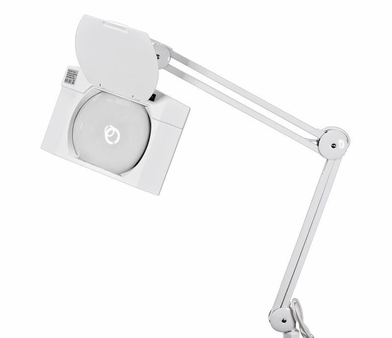 Лупа на струбцине квадратная настольная 5Х с подсветкой 108 LED, белая Rexant - Косметологические аппараты