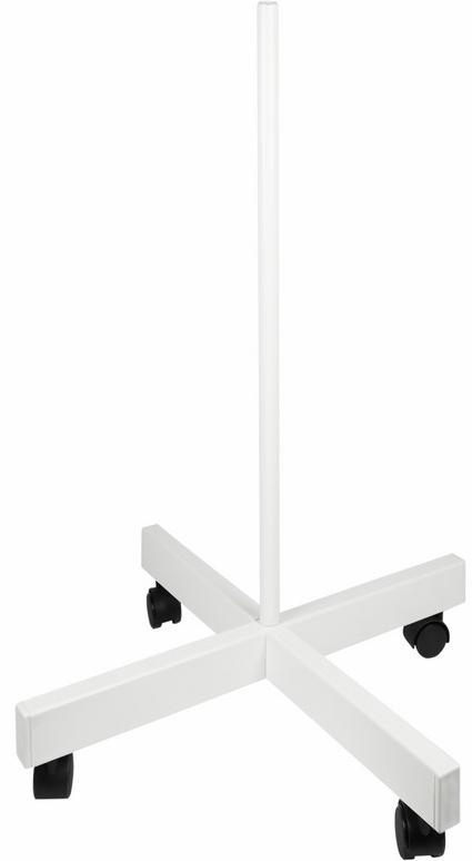 Стойка напольная для ламп-луп (четырехлучевая) Rexant31-0830Стойка напольная для ламп-луп (четырехлучевая) REXANT предназначена для установки на нее оптико-электронных приборов (ламп, ламп-луп и т.п.), имеющих универсальное крепление под струбцинный держатель для стола. Стойка обеспечит устойчивое положение установленного прибора, и позволит легко его премещать по любой поверхности за счет четырех пар колес. Основные характеристики:- габаритные размеры: 70х40х40см;- вес устройства: 3кг;- цвет: белый.
