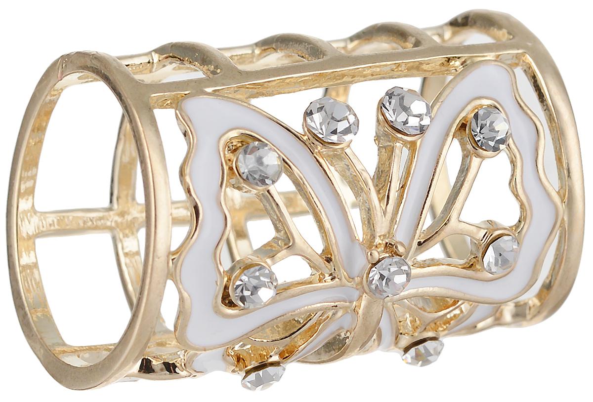 2 Кольцо для платка/шарфа Мотылек от D.Mari. Прозрачные кристаллы, эмаль белого цвета, бижутерный сплав золотого тона. ГонконгКольцо для платкаКольцо для платка/шарфа Мотылек от D.Mari.Прозрачные кристаллы, эмаль белого цвета, бижутерный сплав золотого тона.Гонконг.Размер: диаметр 2 см.Кольца для шарфов и платков являются очень стильными и изящными аксессуарами, уместными и в повседневном ношении, и по особому случаю.Такое кольцо позволяет закрепить и украсить шарф или платок.Полезный и красивый аксессуар!