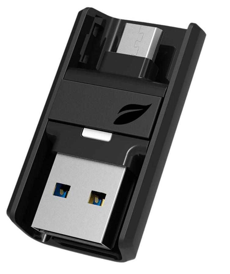 Leef Bridge 3.0 64GB, Black USB-накопитель leef bridge lfbri 032gkr 32gb usb microusb black