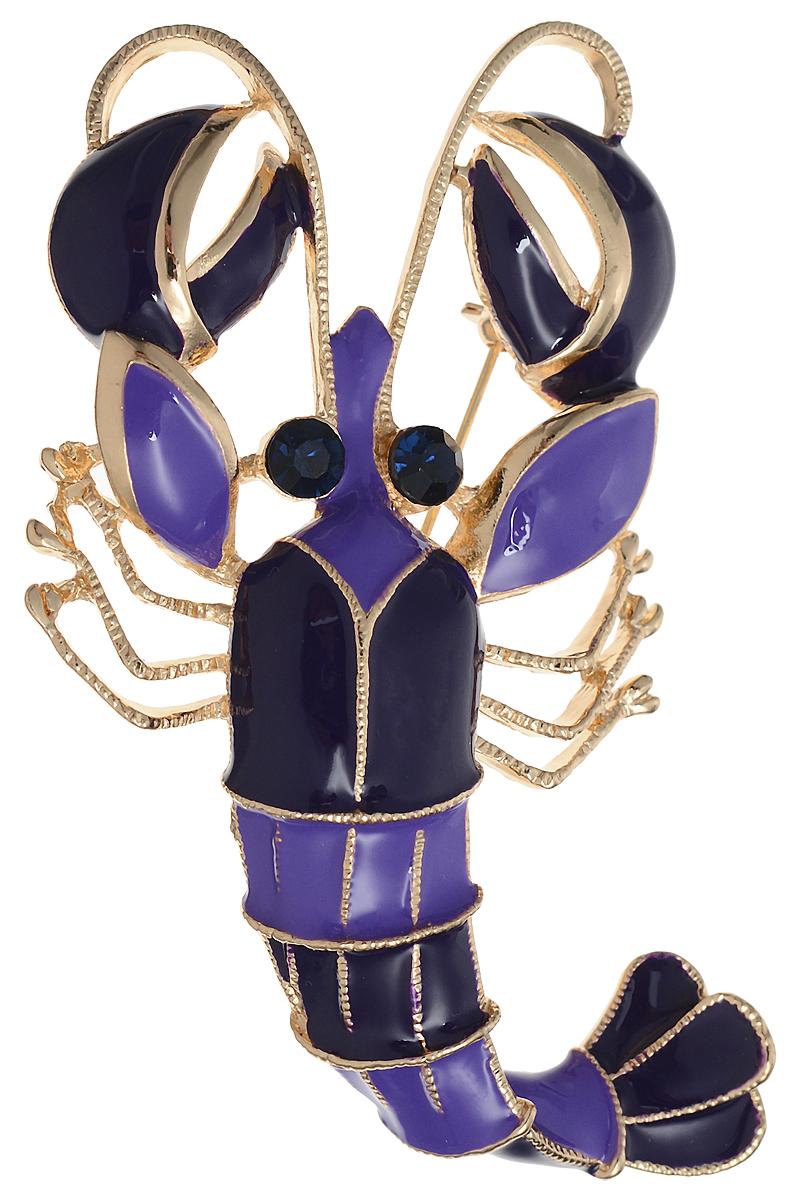 25 Брошь-кулон Рак от D.Mari. Цветные эмали, кристаллы темно-синего цвета, бижутерный сплав золотого тона. ГонконгБрошь-булавкаБрошь-кулон Рак от D.Mari.Цветные эмали, кристаллы темно-синего цвета, бижутерный сплав золотого тона.Гонконг.Размер - 8 х 4,5 см.Тип крепления - булавка с застежкой.Имеется петелька для цепочки.