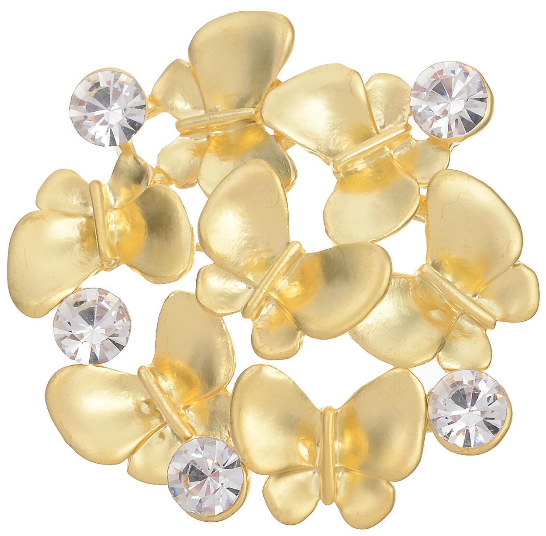 31 Брошь бабочки от D.Mari. Прозрачные кристаллы, эмаль, бижутерный сплав золотого тона. ГонконгБрошь-булавкаБрошь Бабочки от D.Mari.Прозрачные кристаллы, эмаль, бижутерный сплав золотого тона.Гонконг.Размер - диаметр 4 см.Тип крепления - булавка с застежкой.