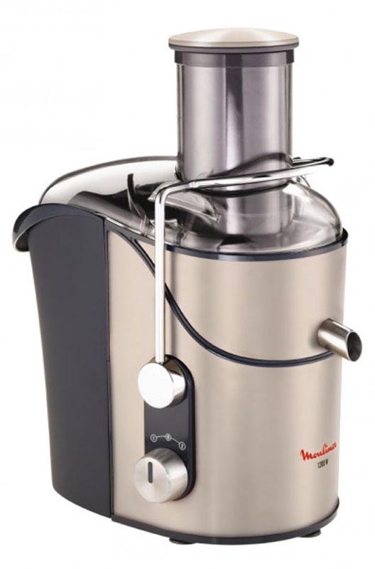 Moulinex JU655H30 соковыжималкаJU655H30Благодаря соковыжималке Moulinex JU655H30 вы можете готовить вкусные свежие фруктовые соки каждое утро. Противокапельная система и кувшин объемом 1,25 л с пеноотделителем позволяют выжимать любые фруктовые или овощные соки. Со сборником мякоти объемом 3 л можно готовить соки когда угодно и так, как вам больше нравится. Два скоростных режима гарантируют оптимальный результат с любыми фруктами и овощами. Простой дизайн и эргономичные ручки позволяют с комфортом готовить вкусные соки.Ширина загрузочного отверстия: 85 мм