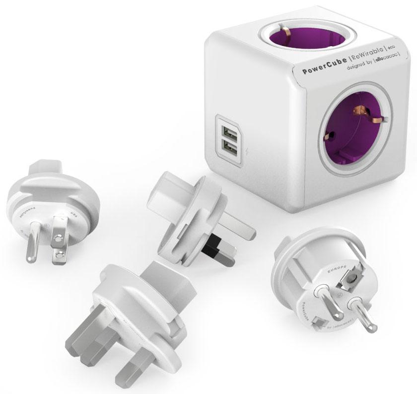 Allocacoc PowerCube ReWirable USB, White сетевой удлинитель (1 м)1811/DERU3PДля использования как в поездке так и дома. Универсальный разьем для вилок. PowerCube снабжен используемым во всем мире разьемом IEC (ограниченным до 10A). Вы можете использовать IEC кабель от старой техники, таким образом превращая его в удлинитель.