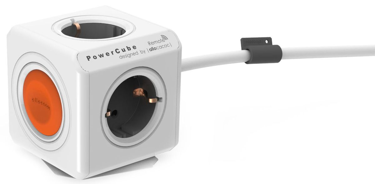 Allocacoc PowerCube Extended Remote, White сетевой удлинитель (1.5 м)1513/EUEXRMДистанционное управление
