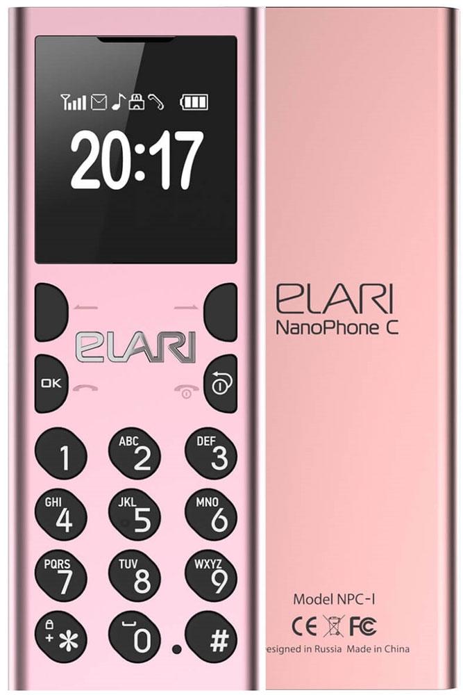 Elari NanoPhone C, PinkT035479Забудьте про информационный шум и наслаждайтесь моментами без соцсетей и мессенджеров, принимайте или делайте звонки через смартфон без облучения, развлекайте друзей смешным голосом по второму номеру, записывайте лекции и телефонные разговоры на карту microSD, слушайте музыку и FM-радио!С NanoPhone C вы больше не рискуете своим здоровьем – излучение от его Bluetooth-модуля существенно меньше, чем от модуля связи вашего смартфона.NanoPhone C настолько миниатюрен и легок, что его можно носить на шее как аксессуар, используя идущий в комплекте изящный ремешок.Для входящих или исходящих звонков вы можете включить забавный режим Волшебный голос. Он меняет ваш голос до неузнаваемости: разыгрывайте друзей, разговаривая с ними мужским басом, женским сопрано, или детским фальцетом!С NanoPhone C вы точно не заскучаете: в устройстве предусмотрен MP3-плеер с возможностью создания плейлистов, FM-радио и диктофон с функцией записи телефонных разговоров.Разговаривайте по громкой связи, слушайте музыку, радио, диктофонные записи через встроенный спикер, проводную (вкомплекте) или беспроводную гарнитуру либо колонку по Bluetooth.Вы можете назначить на рингтон Nano C любимую музыкальную композицию или любой другой MP3-файл. Выбор – за вами!Подключите к своему смартфону NanoPhone C по Bluetooth, получите полный доступ к телефонной книге своего основного мобильного устройства и используйте Nano C для общения – телефон-гарнитура без какой-либо дополнительной настройки увидит все ваши контакты.Можно пойти еще дальше – переставить в NanoPhone C свою основную SIM-карту, а смартфон оставить дома. В этом случае вы можете легко перенести до 1000 ваших контактов в память Nano C и, оставаясь на связи для звонков и SMS, получать удовольствие от реальной жизни.Вариант для самых требовательных: установите в NanoPhone C дополнительную SIM-карту, подключите его к своему смартфону по Bluetooth и наслаждайтесь свободой. Вы сами можете выбрать, какой номер использовать для