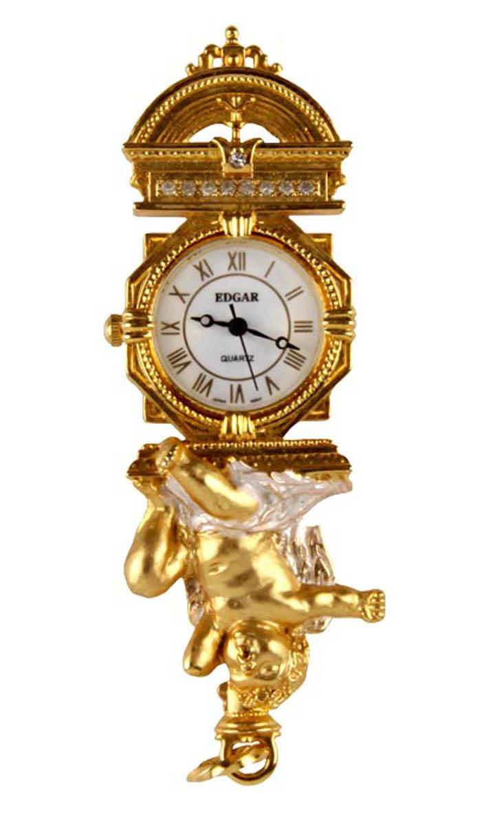 Кулон-часы Ангел. сплав, австрийские кристаллы, эмаль, японский часовой механизм. Edgar Berebi, США, вторая половина XX векаОжерелье (короткие многоярусные бусы)Кулон-часы Ангел. сплав, австрийские кристаллы, эмаль, японский часовой механизм. Edgar Berebi, США, вторая половина XX века. Размер 4 х 3 см. Диаметр часов 1,8 см. Сохранность хорошая. Предмет не был в использовании. Элегантный кулон-часы выполнен из металла золотого цвета, инкрустирован австрийскими кристаллами.Часовой механизм кварцевый.Такой медальон станет изысканным украшением для романтичной и творческой натуры и гармонично дополнит Ваш наряд, станет завершающим штрихом в создании образа.