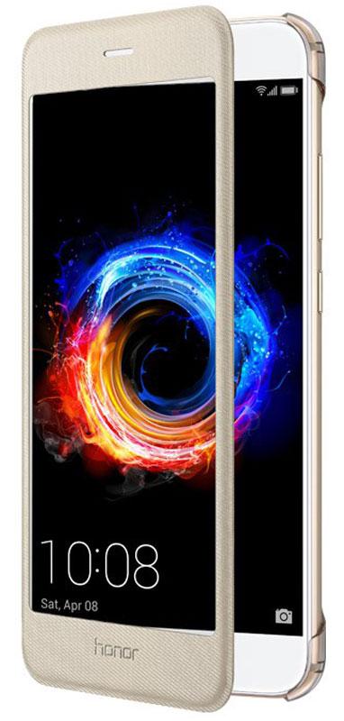 Huawei Smart Cover чехол для Honor 8 Pro, Gold51991953Защитный чехол Huawei Smart Cover создан специально для смартфона Honor 8 Pro. Он идеально повторяет контуры устройства и обеспечивает ему надежную защиту при падениях и ударах. Чехол приятен на ощупь, не скользит в руках и не утяжеляет конструкцию: с ним смартфон сохранит внешний вид и будет защищен от сколов, царапин и потертостей.