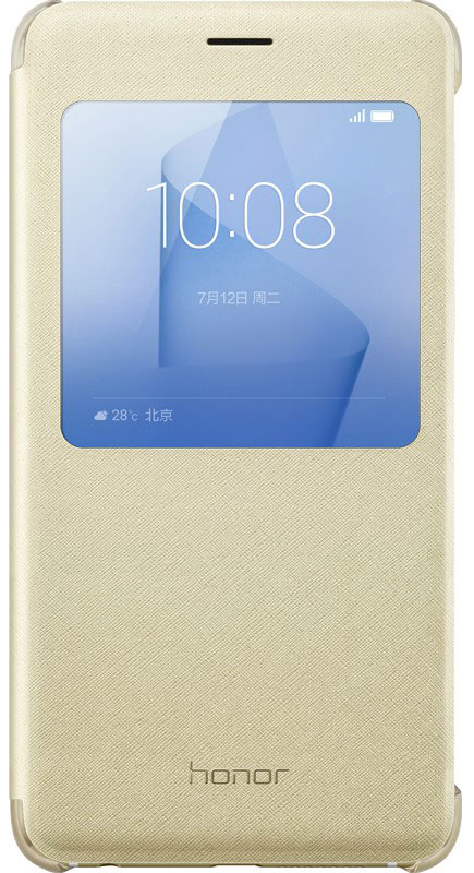 Huawei Smart Cover чехол для Honor 8, Gold51991683Защитный чехол Huawei Smart Cover создан специально для смартфона Honor 8. Он идеально повторяет контуры устройства и обеспечивает ему надежную защиту при падениях и ударах. Чехол приятен на ощупь, не скользит в руках и не утяжеляет конструкцию: с ним смартфон сохранит внешний вид и будет защищен от сколов, царапин и потертостей.