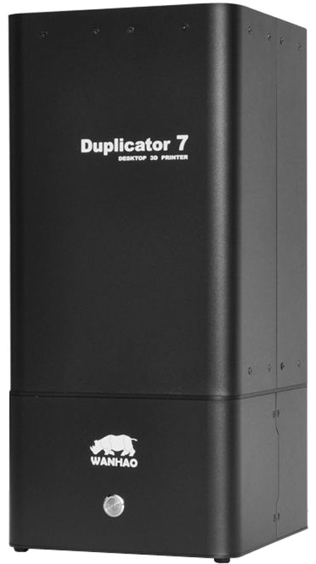Wanhao Duplicator 7 v 1.3 3D принтерУТ0000070573D-принтер Wanhao Duplicator 7 обладает уникальной печатной возможностью, а именно - DLP технологией. Хочется напомнить, что DLP цифровая светодиодная проекция является уникальной технологией, которая отличается своим методом аддитивного производства, а также способом стереолитографической 3D-печати.В версии 1.3 3D-принтера Wanhao Duplicator 7 upgrade получила задняя крышка, на которой размещён вентилятор, предотвращающий 3D-принтер от перегрева.Отличительной особенностью DLP-принтеров, от предыдущих их собратьев, является высококачественная точность печати. Минимальная величина толщины слоя у этого устройства достигает 35 микрон. К слову, у FDM-принтеров толщина наносимого слоя не снижается более, чем до 50 микрон. Технологическая особенность Wanhao Duplicator 7 построена таким способом, что разрешение находится в противоположной зависимости от скоростного темпа наслоений. Благодаря таким технологическим нюансам, можно получить более значительные результаты точности, за счет уменьшения самой печатной скорости.Отдельно хочется напомнить, что используемые материалы в новой модели принтера, то есть фотополимерные смолы, имеют широкий список характеристик, исключительно положительных механических свойств. Правда, как подчеркнули создатели, допустима и имитация в пределах от резины до твердых полимеров.Точность размеров: 0.004 ммТехнология печати: UV resin, DLP 3DТип пластика: 405 nm uv resinРазмер области построения: 120 мм х 68 мм х 200 ммТолщина слоя: 0.035-0.5 ммСкорость печати: 30 мм/чПрограммное обеспечение: Creation WorkshopТолщина нити: 1,75 мм