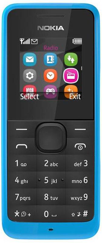 Nokia 105 SS, CyanA00025706Nokia 105 - эффектный телефон с цветным экраном в черном корпусе. Яркий и простой дизайн и надежная клавиатура с защитой от пыли и брызг, обеспечивающая эффективную работу телефона.Небольшие, но важные мелочи делают жизнь проще. Например, пять программируемых будильников. Говорящие часы. Фонарик, чтобы осветить путь в темноте. В Nokia 105 также встроено FM-радио - достаточно подключить гарнитуру, чтобы погрузиться в мир музыки.Телефон сертифицирован EAC и имеет русифицированную клавиатуру, меню и Руководство пользователя.