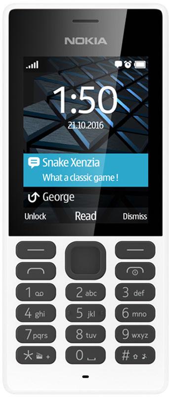Nokia 150 DS, WhiteA00027945Мобильный телефон Nokia 150 DS - надежная модель, созданная на основе проверенных временем технических решений. Его корпус изготовлен из высокопрочного поликарбоната, за счет чего он не только защищает электронные компоненты от повреждений, но и сам сохраняет превосходный внешний вид при длительном использовании.Устройство укомплектовано передатчиком Bluetooth для подключения гарнитуры и быстрого обмена файлами, FM-радиоприемником, аудиоплеером и камерой с яркой светодиодной вспышкой, которая может использоваться в качестве фонарика.Телефон снабжен батареей повышенной емкости, рассчитанной на 22 часа непрерывного разговора, 40 часов прослушивания музыки или 31 день работы в режиме ожидания.Nokia 150 DSможно использовать в качестве личного и рабочего одновременно. Кроме того, он позволяет сокращать затраты за счет подбора оптимальных тарифных планов мобильных операторов.Телефон сертифицирован EAC и имеет русифицированную клавиатуру, меню и Руководство пользователя.