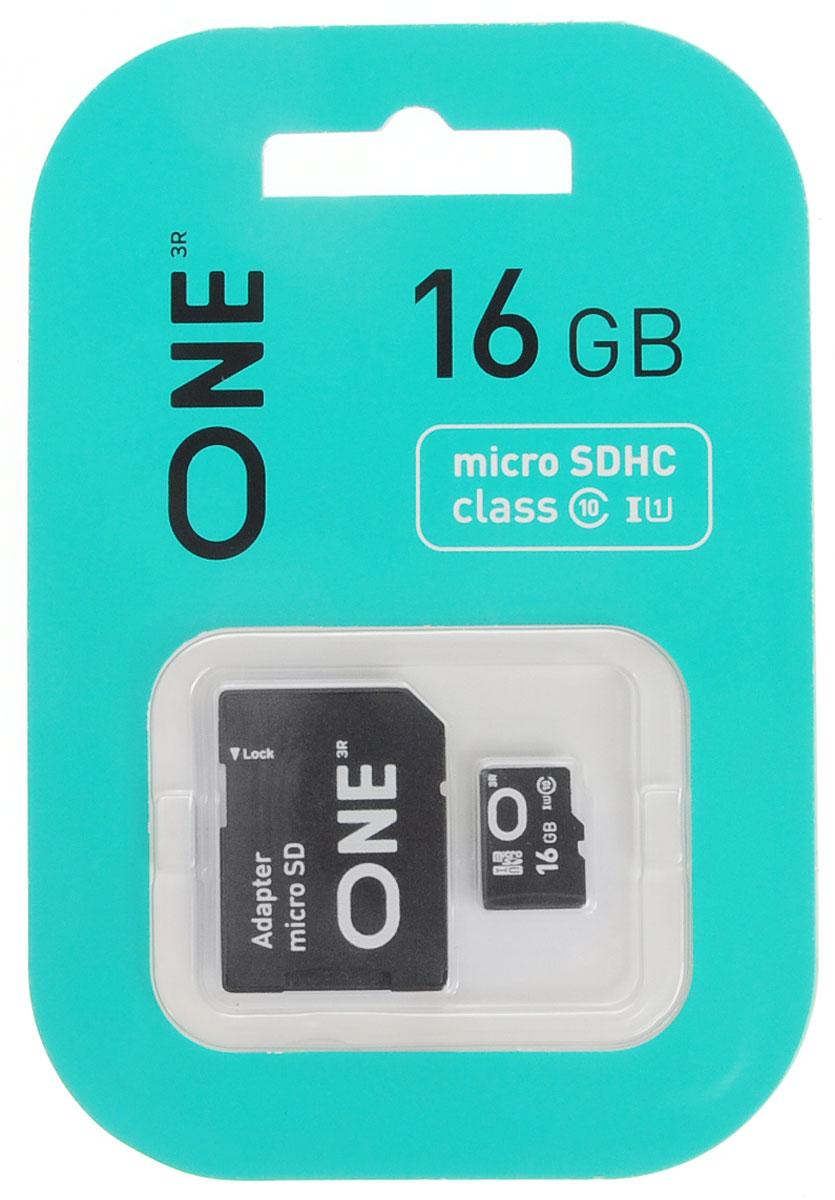 One microSDHC UHS-I Class 10 16GB карта памяти с адаптеромONE-USDH16GU1C10-RAКарта памяти One microSDHC UHS-I Class 10 позволяет осуществлять расширение памяти цифровых плееров, цифровых фотоаппаратов и видеокамер, коммуникаторов, смартфонов, интернет планшетов и других совместимых устройств. Карты памяти One являются качественным решением для хранения и переноса различного рода информации, такой как музыкальный файлы, фотографии, электронные документы и другие важные для вас файлы. Внимание: перед оформлением заказа, убедитесь в поддержке вашим электронным устройством карт памяти данного объема.