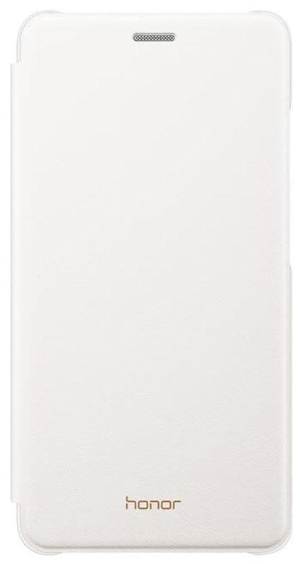 Huawei чехол для Honor 5C, White51991672Чехол-книжка из искусственной кожи создан специально для смартфона Huawei Honor 5C. Он идеально повторяет контуры устройства и обеспечивает ему надежную защиту при падениях. Чехол приятен на ощупь, не скользит в руках и не утяжеляет конструкцию: с ним смартфон сохранит внешний вид и будет защищен от сколов и царапин.