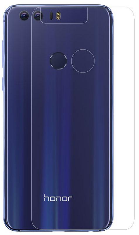 Huawei защитная пленка на заднюю панель для Honor 851991709Прозрачная защитная пленка на заднюю панель Huawei Honor 8 предохраняет ее от царапин, грязи, пыли, пятен и сколов. Легко наклеивается на поверхность без пузырей и складок. При желании пленку легко снять — она не оставляет следов на смартфоне. Материал гарантирует длительную эксплуатацию и надежную защиту телефона.