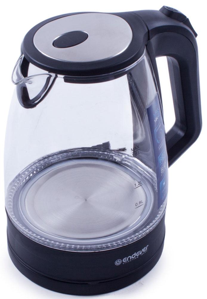 Endever Skyline KR-326G, Black чайник электрическийKR-326 GЧайник электрический Endever Skyline KR-326G выполнен из высококачественных материалов. Скрытый нагревательный элемент из нержавеющей стали обеспечивает быстрое закипание и долговечность. Удобный индикатор уровня воды помогает контролировать максимальное заполнение, текущий уровень и минимальный остаток. Удобный прочный механизм открывания крышки позволяет легко набирать воду.