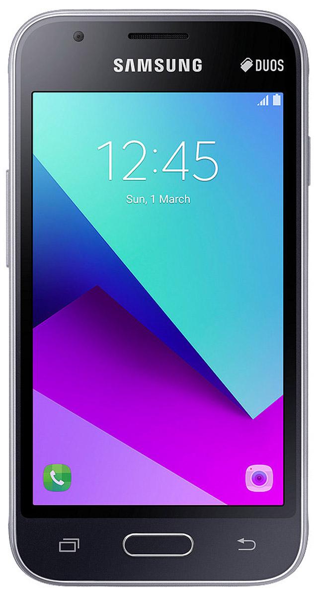 Samsung Galaxy J1 Mini Prime SM-J106F, BlackSM-J106FZKDSERSamsung Galaxy J1 Mini Prime - компактный смартфон, который имеет двухцветный дизайн. Черная рамка вокруг экрана зрительно расширяет его границы.Компактный корпус и закругленные края обеспечивают удобный захват смартфона и комфортное использование.Высокая производительность и возможность хранения дополнительных файлов благодаря поддержке microSD до 128 ГБ.Режим максимального энергосбереженияСнижение энергопотребления, автоматическая настройка работы экрана и оптимизация активных приложений.Смартфон работает на процессоре Spreadtrum SC9830A. Это четырехъядерное решение, работающее на тактовой частоте 1.5 ГГц. В тандеме с ним функционируют модуль оперативной памяти на 1 ГБ и модуль постоянной на 8 ГБ. За обработку графики отвечает видеочип Mali-400 MP2.Телефон сертифицирован EAC и имеет русифицированный интерфейс меню и Руководство пользователя.