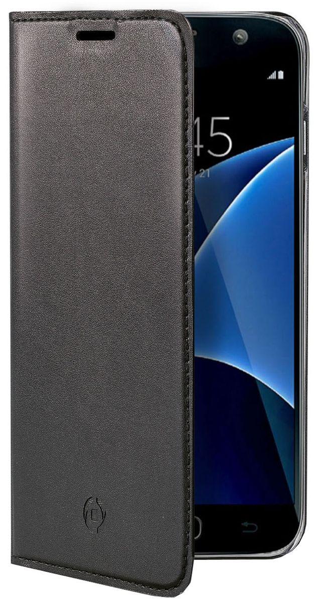 Celly Air Case чехол для Samsung Galaxy J5 (2017), BlackAIR665BKCPЧехол-книжка Celly Air Case выполнен из высококачественных материалов и практически не увеличивает размер устройства. А благодаря его удобной конструкции все функциональные кнопки и разъемы остаются свободными. Чехол надежно защитит ваш аппарат от царапин и сколов, механических повреждений, а также позволит хранить кредитные карты или визитки в специально отведенном кармашке. Крышка может использоваться как подставка под устройство, для удобного просмотра видео.