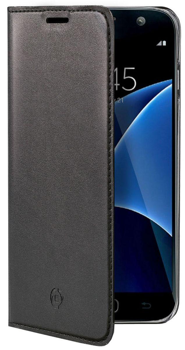 Celly Air Case чехол для Samsung Galaxy J7 (2017), BlackAIR667BKCPЧехол-книжка Celly Air Case выполнен из высококачественных материалов и практически не увеличивает размер устройства. А благодаря его удобной конструкции все функциональные кнопки и разъемы остаются свободными. Чехол надежно защитит ваш аппарат от царапин и сколов, механических повреждений, а также позволит хранить кредитные карты или визитки в специально отведенном кармашке. Крышка может использоваться как подставка под устройство, для удобного просмотра видео.