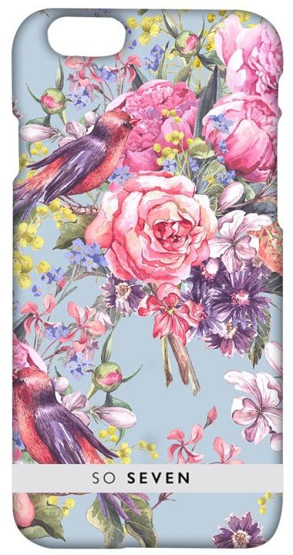 So Seven Summer Chic Oiseaux чехол для Apple iPhone 7 PlusSVNCSRM2IP7PЧехол-накладка изготовлен из жесткого поликарбоната, который выдерживает большие нагрузки, не допуская повреждения устройства. Рисунок нанесен с помощью современной методики ультрафиолетовой печати, благодаря чему он не выцветает и не теряет четких очертаний со временем.