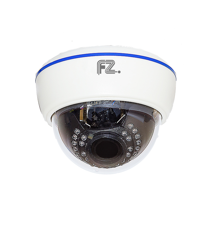 Fazera zIPCam-DVIRP30-720 камера видеонаблюденияzIPCam-DVIRP30-720IP Видеокамера купольная внутренняя с ИК подсветкой с разрешением 720p и вариофокальным объективом 2.8-12мм